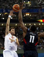 Final Olimpiadas Pekín 2008. USA - España. Rudy ante Howard